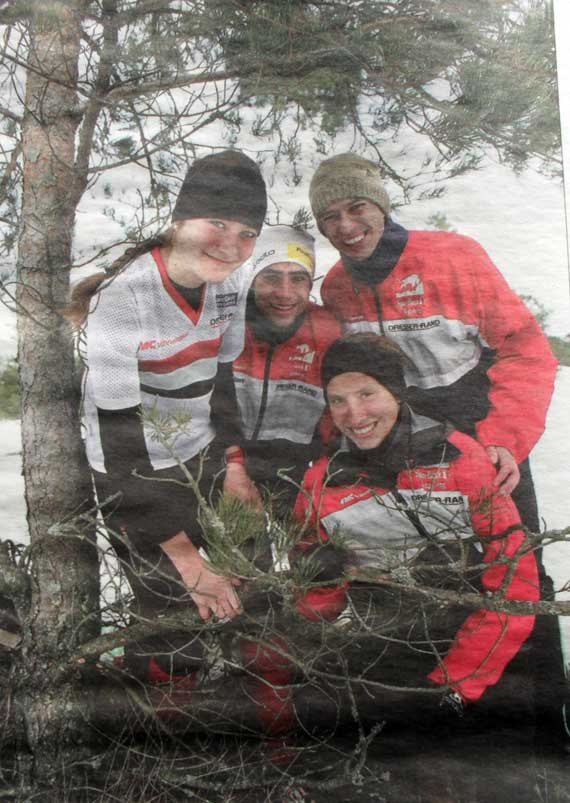 Laura Vike, Julia Gross, Severin Howald and Ivan Sirakov