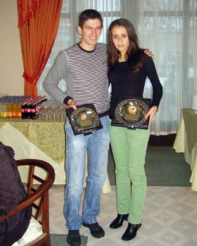 Марина Димитрова /2място/ и Иван Сираков